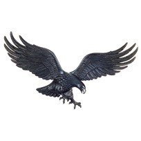 Eagle Wall Plaque 29 Inches Black