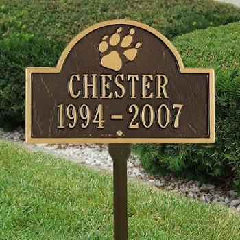 Dog Memorial Plaque with Paw Print
