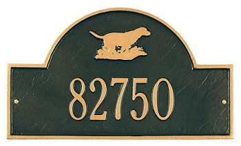 Retriever Arch Address Plaque Wall 1 Line