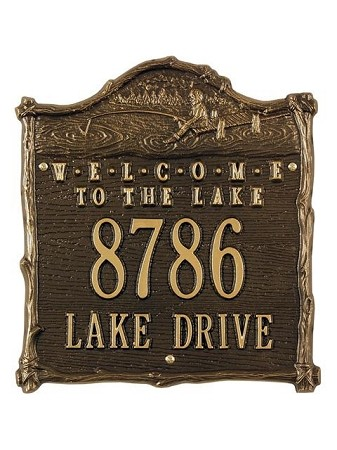 Welcome to the Lake Address Plaque