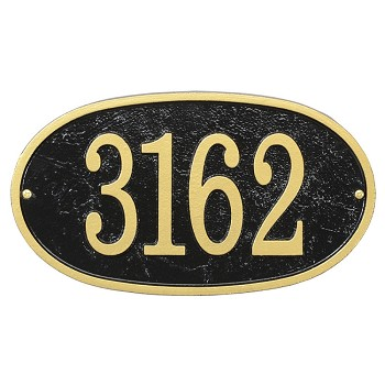Oval House Number Plaque Fast & Easy