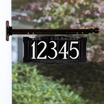 4 Inch Number Hanging Plaque