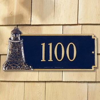 Lighthouse on the Rocks Address Plaque