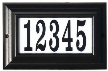 Edgewood Lighted Address Plaque, Large