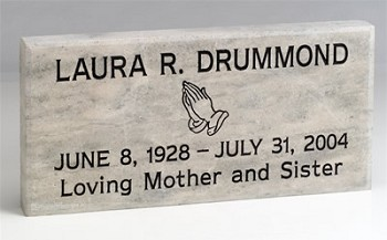 Memorial Marker Personalized Natural Stone Dolomite