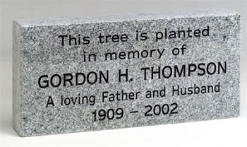 Tree Memorial Personalized Granite