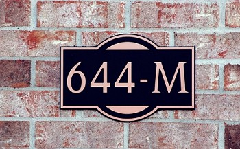 Charleston Composite Address Plaque Medium