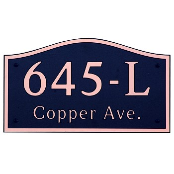 Soft Arch Composite Address Plaque, 645L