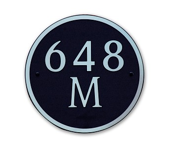 Round Composite Address Plaque Medium, 648M