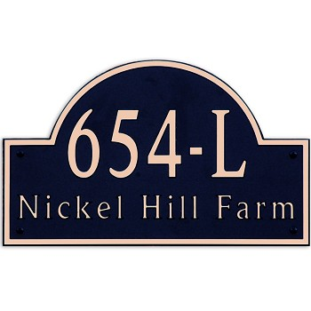Arch Composite Address Plaque Large, 654-L