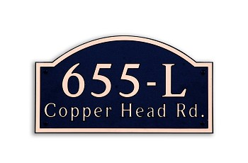 Winged Arch Composite Address Plaque Large