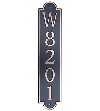 Vertical Arch Composite Address Plaque Vertical, 657V