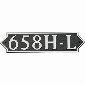 Horizontal Pointed Composite Address Plaque, 658H