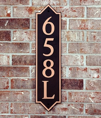 Vertical Pointed Composite Address Plaque