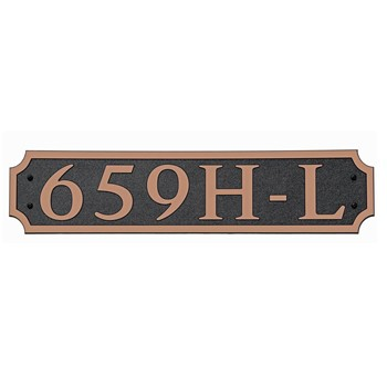 Composite Address Plaque: Model 659H