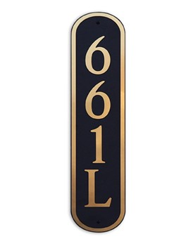 Vertical Oval Composite Address Plaque, 661V