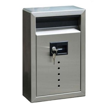 "E9 Ecco Stainless Steel Locking Mailbox 13"" x 8.5"""