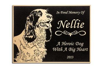 Bronze Plaque with Flat Relief for Pet