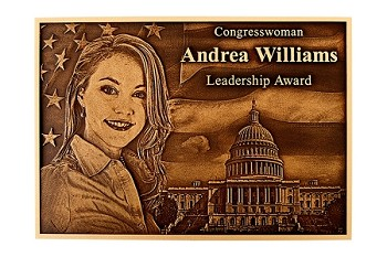 Bronze Plaque with Photo Relief
