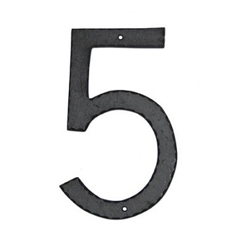 10 Inch Aluminum House Numbers: Textured