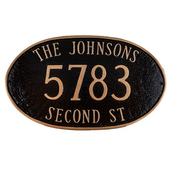 Montgomery Large Address Plaque