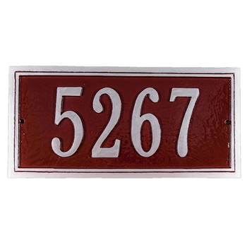 Fremont Rectangle Address Plaque