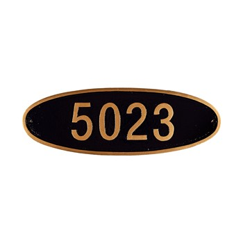 Wilshire Oval Address Plaque