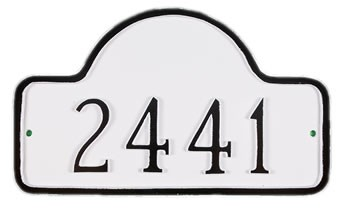 Lexington Arch Address Plaque Small Wall