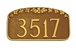 Dogwood Address Plaque