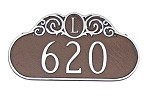 Decorative Monogram Address Plaque