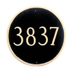 Round Address Plaque 18 Inches