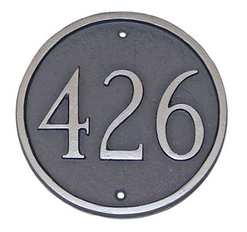 Round Address Plaque 6.5 Inches Wall
