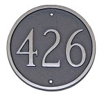 Round Address Plaque 6.5 Inches