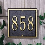 Square Address Plaque 6x6 - 3 Numbers