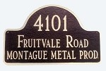 Arch Address Plaque Commercial Use