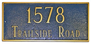 Rectangular Address Plaque 15.75 Inches