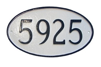 Oval Address Plaque Estate Wall