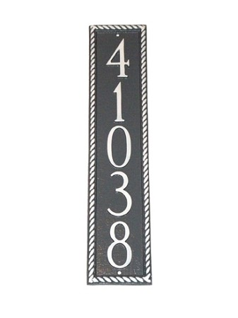 Franklin Vertical Address Plaque