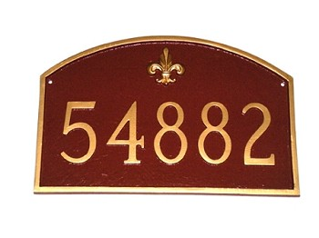Prestige Arch Plaque with Fleur de Lis Large