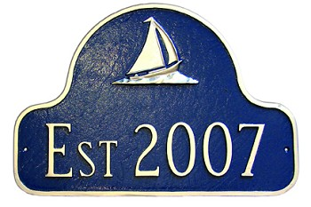 Sailboat Arch Address Plaque Established