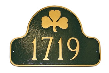 Shamrock Arch Address Plaque