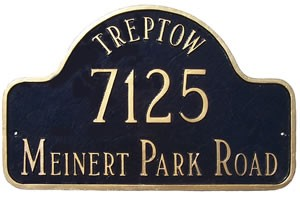 Arch Address Plaque with Name Large