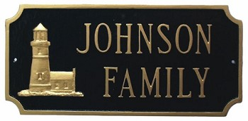 Lighthouse Plaque Rectangular