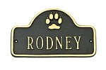 Dog Name Plaque Small Arch