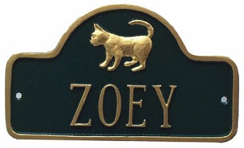 Cat Name Plaque Wall