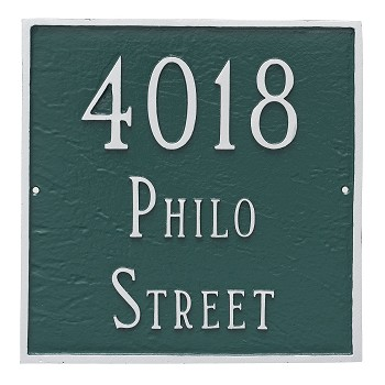 "Square Address Plaque 18"" x 18"""