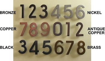4 Inch Numbers Brass Plated