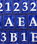 Glass and Ceramic House Numbers