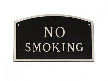 No Smoking Sign Arch