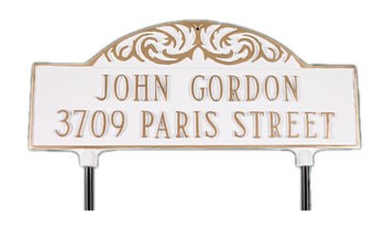 Two-sided Decorative Lawn Plaque